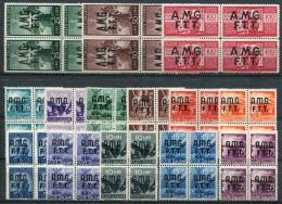 1947- TRIESTE-AMGFTT.- DEMOCRATICA-56 VAL.-M.N.H.-LUXE ! ! - Nuovi