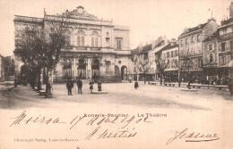 39 LONS LE SAUNIER LE THEATRE CARTE PRECURSEUR CIRCULEE 1902 - Lons Le Saunier