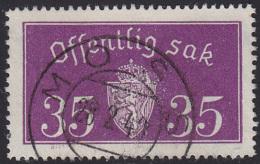 NORWAY - Mi # D17 II Moss 28.2.40 - Service