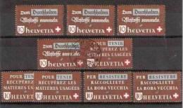 1942 Svizzera Switzerland PROPAGANDA RECUPERO USATO 9 Valori (Yv. 375/77) MNH**,MH*,USATI - Protezione Dell'Ambiente & Clima