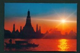 THAILAND  -  Bangkok  Chao-Praya River At Sunset  Unused Postcard - Thailand