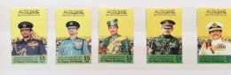 Brunei 2001 55th Birthday Sultan Set  And Sheet  MNH - Brunei (1984-...)