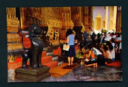 THAILAND  -  Bangkok  Emerald Buddha Temple  Used Postcard As Scans - Thailand