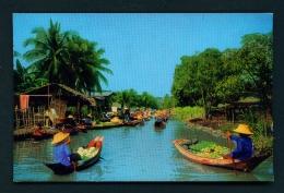 THAILAND  -  Rajburi  Damernsaduak Floating Market  Used Postcard As Scans - Thailand
