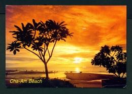 THAILAND  -  Phetchaburi  Cha-Am Beach  Used Postcard As Scans - Thailand