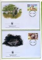 2001 - ERITREA - Mi. Nr. 254/257 - OFFICIAL FDC - (CAT 2016 WWF) - Eritrea
