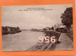 CPA * * GRAY * * Port Villeneuve Et Pont Suspendu - Gray
