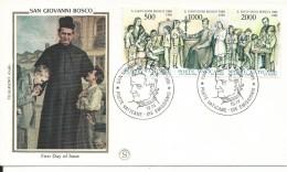 VAT110 - FDC VATICANO 19.4.88 - CENTENARIO MORTE DI SAN GIOVANNI BOSCO - FDC