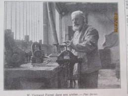 1910 Moteur à Explosion Precurseur  Fernand Forest Clermond Ferrand + Angleterre L Ouverture  Du  Parlement  Royauté - Vieux Papiers