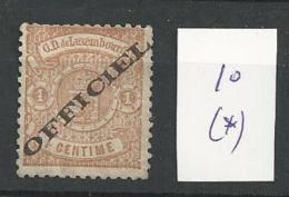 1875 MNG  Luxemburg, Luxembourg, Dienst - Service