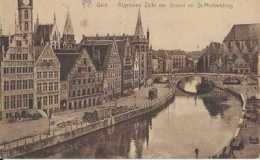 Gent - Gand - Algemene Zicht Der Graslei En St Michielsbrug - Quai Aux Herbes Et Pont St-Michel - Pas Circulé - Animée - - Gent