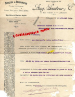 87 - LIMOGES - FACTURE AUGUSTE SAUTOUR - 6 RUE TURGOT - HOUILLES ET ANTHRACITES- 1914 - France