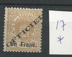 1875 MH  Luxemburg, Luxembourg, Dienst - Dienst