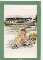 Ls Jardins De Métis : Aquarelle Arthure 1995 (tiré De Carnet Pour Flâner De Mitis à Matane) Gaspésie - Gaspé