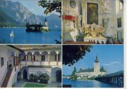 GMUNDEN - Seeschloß Ort, Schloß Orth, Mehrbildkarte - Gmunden