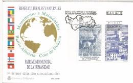 MADRID FDC SPD 1996 ALBAICIN GRANADA PARQUE NACIONAL DOÑANA FAUNA - Animalez De Caza