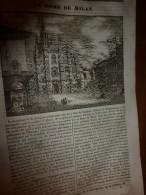 1833 LM :  Le DOME De Milan; Le Merlan; Le LAC De CÔME ; Les Trombes; M. De HUMBOLDT - Vieux Papiers