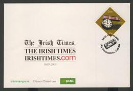 Ireland Irlande Eire 2009 FDC + Mi 1865 -  150th Ann. The Irish Times (1859-2009) – Newspaper / Zeitung / Krant - 1949-... Republic Of Ireland