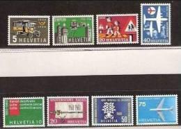 1956 1960 Svizzera Switzerland PROPAGANDA 2 Serie (Yvert 572/75+639/42) Di 4v. MNH** - Neufs