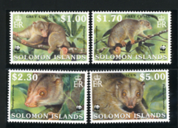 2002 - ISOLE SOLOMONE - SOLOMON ISLANDS - Mi. Nr. 1062/1065 - NH -  (CAT 2016.1 WWF) - Isole Salomone (1978-...)