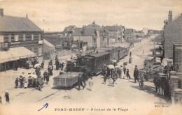 80-FORT-MAHON  - AVENUE DE LA PLAGE- VUE  DE TRAIN - Fort Mahon