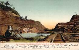 Panama - Bas Obispo Cut, Showing Steam Shovel At Work, Canal Zone (chemin De Fer) (colorisée) - Panama