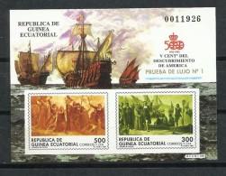 Guinea. 1991_Prueba Nº 1. V Centenario Del Descubrimiento De América. - Equatorial Guinea