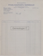 24 312 MUSSIDAN DORDOGNE 19.. ( Document Vierge ) Bois GERBEAUD Usine A LE PICQ Charpente Menuiserie - France