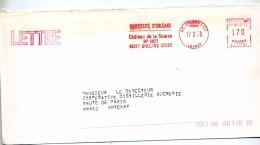 Lettre Flamme Ema Orleans Universite - Storia Postale