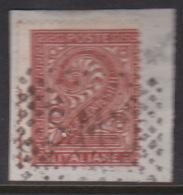 San Marino 1862 Italian Stamp Used In San Marino 2c Ewd Used On Piece - Saint-Marin