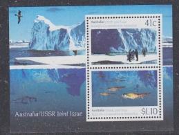 Australia 1990 Antarctica / Joint Issue With USSR M/s ** Mnh (29042) - Australian Antarctic Territory (AAT)