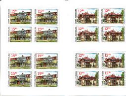 """Tchéquie 2007 ( 2 Feuillets 8 T. """"Architecture"""" De 12 Et 15 Kc )  Luxe ** - Repubblica Ceca"""