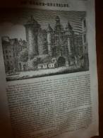 1833 LM :Le Grand-Châtelet;Girafe;Palais BERLIN;Newton;Pour Protéger Les Arbres Fruitiers Contre Les Insectes Ravageurs - Vieux Papiers