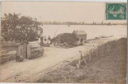 CPA PHOTO 71 MARCIGNY Garage à Bateaux Sur Les Bords De La Loire 1907 Rare - Unclassified