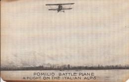 Post Card Pomilio Battle Plane - A Flight On The Italian Alps - Italy