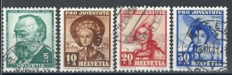 Timbre Suisse 1940 * Pro-Juventute - ZU 93 à 96 *  Oblitéré - Oblitérés