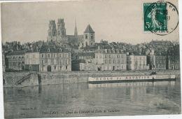 ORLEANS - Quai Du Châtelet Et Ecole De Natation - Orleans