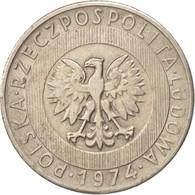 Pologne, 20 Zlotych, 1974, Warsaw, TTB, Copper-nickel, KM:67 - Pologne