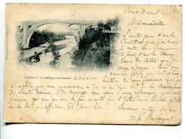 2016 04 10 Céret Le Pont, Carte Voyagé En 1900, Voir Scan 2 - Ceret