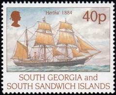 SOUTH GEORGIA - Scott #196 Hertha 1884 / Mint NH Stamp - Great Britain (former Colonies & Protectorates)