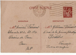 Entier Postal 80 C Iris Casino De Pau - Poststempel (Briefe)