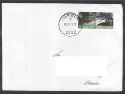 D19 Slowenien Slovenia Traveled Letter To Russia Stamp Bridge Brucke Handstamped - Slowenien
