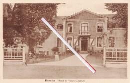 """HENSIES - Hôtel Du Vieux-Château - Enseignes De Bières De Chaque Côté De La Porte,""""Vandenheuvel Bock-Export"""" - Hensies"""