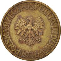 Pologne, 5 Zlotych, 1976, Warsaw, TTB, Brass, KM:81.1 - Pologne