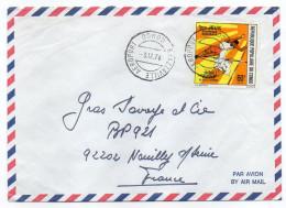 """CONGO-1976-Lettre De BRAZZAVILLE Aéroport Pour NEUILLY/Seine-92-France--timbre Sport  """"Saut à La Perche"""" Seul Sur Lettre - Congo - Brazzaville"""