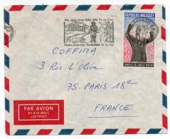 """MADAGASCAR-1971-Lettre De TANANARIVE Pour PARIS--France--timbre""""DE GAULLE"""" Seul Sur Lettre--flamme Forêts,eaux,sols..... - Madagascar (1960-...)"""