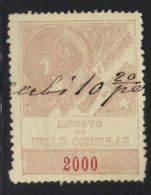 Brazil Revenue - 1893 Consulados Consular 2,000 Reis Barata #12 - Zonder Classificatie