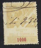 Brazil Revenue - 1893 Consulados Consular 1,000 Reis Barata #11 - Zonder Classificatie