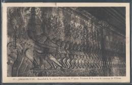 CPA CAMBODGE - Angkor-Vat, Bas-relief De La Galerie D'enceinte Du 1er étage - Scène Du Barattage De L'océan - Cambodia