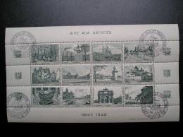 Feuillet  Aide Aux Artistes  Paris 1942  Neuf, Gomme Intacte - Erinnophilie